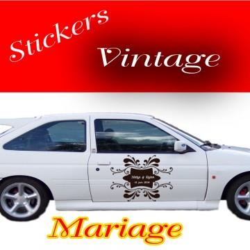 Stickers Mariage Vintage  vendu à l'unité
