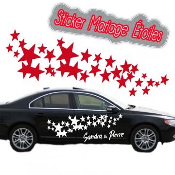 Stickers Mariage Étoiles les 2 coté vendu par 2