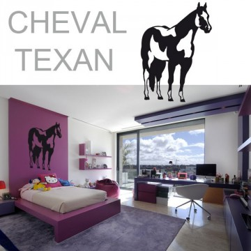 Stickers Cheval Texan 1