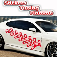 Stickers Tuning Flamme par 2  stf8