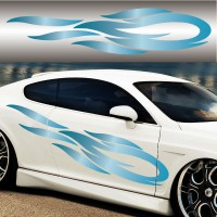 Stickers Tuning Flamme Color vendu par 2