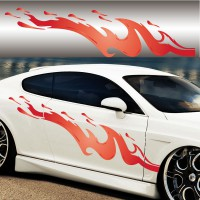 Stickers Tuning Flamme Color3 vendu par 2