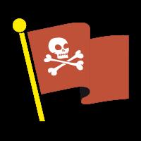 Stickers Drapeau de Pirate 4