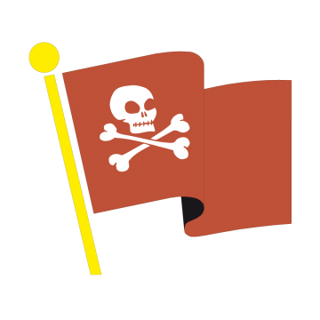 Stickers Drapeau de Pirate