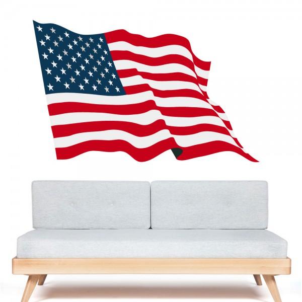 autocollant drapeau am ricain pas cher france stickers. Black Bedroom Furniture Sets. Home Design Ideas