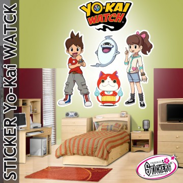 Stickers YoKai Watch Nate Kate Whisper Jibanyan
