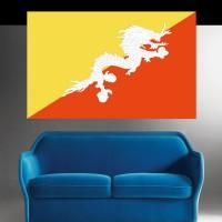 Autocollant Drapeau Bhoutan