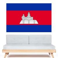 Autocollant Drapeau Cambodge