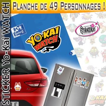 Stickers YoKai Watch - Planche de 49 personnages !