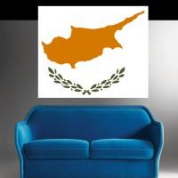 Autocollant Drapeau Chypre
