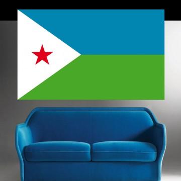 Autocollant stickers Drapeau Djibouti