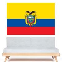 Autocollant Drapeau Équateur