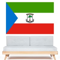 Autocollant Drapeau Guinée Équatoriale