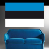 Autocollant Drapeau Estonie
