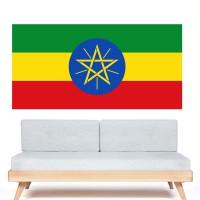 Autocollant Drapeau Éthiopie