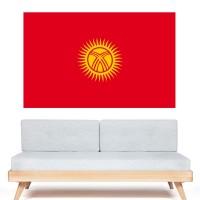 Stickers Autocollant Drapeau kirghizistan