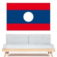 Stickers Autocollant Drapeau Laos