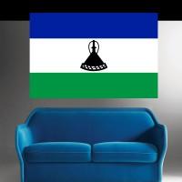 Stickers Autocollant Drapeau Lesotho