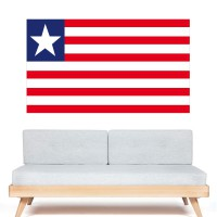 Stickers Autocollant Drapeau Liberia