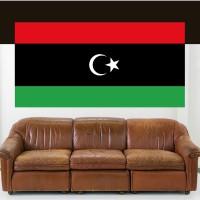 Stickers Autocollant Drapeau Libye