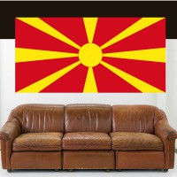 Stickers Autocollant Drapeau Macedoine