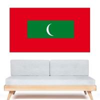 Stickers Autocollant Drapeau Maldives