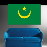 Stickers Autocollant Drapeau Mauritanie
