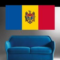 Stickers Autocollant Drapeau Moldavie