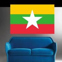 Stickers Autocollant Drapeau Birmanie ou Myanmar