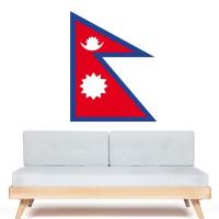 Stickers Autocollant Drapeau Nepal