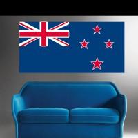 Stickers Autocollant Drapeau Nouvelle- Zélande