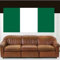 Stickers Autocollant Drapeau Nigeria