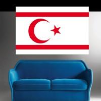 Stickers Autocollant Drapeau Chypre du Nord