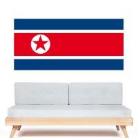 Stickers Autocollant Drapeau Corée du Nord