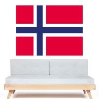 Stickers Autocollant Drapeau Norvège