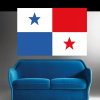 Stickers Autocollant Drapeau  Panama