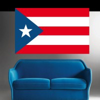 Stickers Autocollant Drapeau Porto Rico
