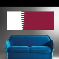 Stickers Autocollant Drapeau Qatar