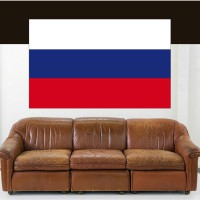 Stickers Autocollant Drapeau Russie