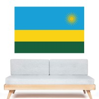 Stickers Autocollant Drapeau  Rwanda