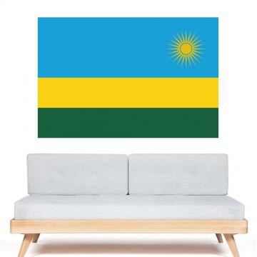 Autocollant stickers Drapeau  Rwanda