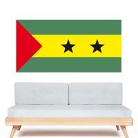 Stickers Autocollant Drapeau  Sao Tomé et Principe