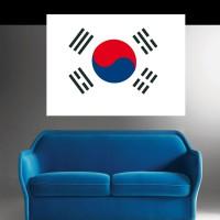 Stickers Autocollant Drapeau Corée du Sud