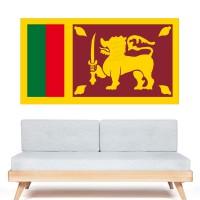 Stickers Autocollant Drapeau Sri Lanka