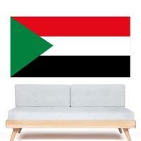 Stickers Autocollant Drapeau Soudan