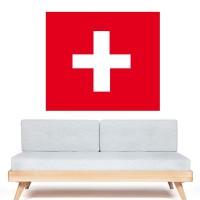 Stickers Autocollant Drapeau Suisse