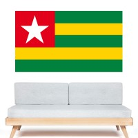 Stickers Autocollant Drapeau Togo