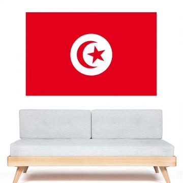 Autocollant stickers Drapeau Tunisie