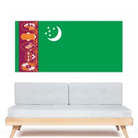 Stickers Autocollant Drapeau Turkménistan