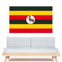 Stickers Autocollant Drapeau Ouganda